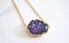 Amethyst+Love+-+Amethyst,+vergoldet+von+Crystal+and+Sage+Jewelry+auf+DaWanda.com