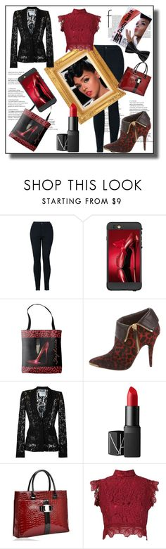 """""""Janelle Style"""" by personaleffects ❤ liked on Polyvore featuring LifeProof, Tabitha Simmons, Moschino, NARS Cosmetics, Martha Medeiros, COVERGIRL, MANGO, fashionset, polyvorestyle and polyvorefashion"""