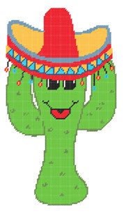 PDF FORMAT Plastic Canvas Happy Jack Cactus  and by kathybarwick, $5.20
