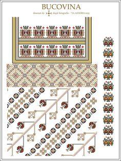 Semne Cusute: IA AIDOMA 005 = Bucovina, ROMANIA Folk Embroidery, Embroidery Patterns, Cross Stitch Patterns, Knitting Patterns, Simple Cross Stitch, Embroidery Techniques, Craft Patterns, Change, Beading Patterns