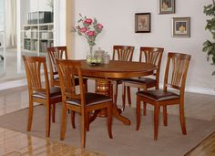 Ebay Dining Room Tables And Chairs 5Pc Norfolk Rectangular Dinette Kitchen Dining Table & 4 Padded