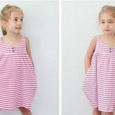 No free bosses! Little Girl Dresses, Girls Dresses, Winter Dresses, Summer Dresses, Jersey Knit Dress, Baby Couture, Dress Tutorials, Baby Dress, Girl Fashion