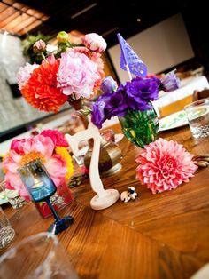 Mimick with paper flowers... Liv's Princess Party?