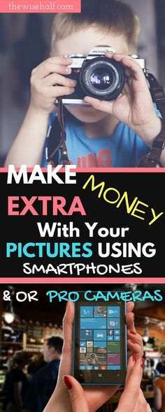 No more phone space? Sell those stock photos and make some extra money. How to make money selling photos from your phones. Best photo apps. Make money with photos. Work from home. Side hustles. Part time jobs for college students.
