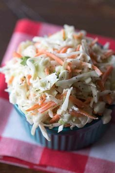 Friends, you're never going to need another coleslaw recipe again. My mom makes the absolute best sweet coleslaw and I'm sharing her secret recipe with you today. Best Sweet Coleslaw Recipe Luckily, my mom isn't Side Dish Recipes, Vegetable Recipes, Side Dishes, Sweet Coleslaw Recipe, Coleslaw Recipe With Raisins, Cooking Recipes, Healthy Recipes, Healthy Baking, Recipes