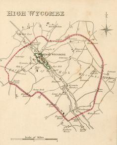 High Wycombe map 1835
