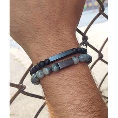 Black Rhodium | Liel and Lentz #Menswear #Jewelry #Minimal #MensFashion #MensBracelet #Contemporary #Bracelet #Stone