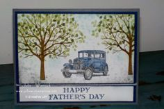 Father's Day card by Julie Warnick using Sheltering Tree and Guy Greetings Stamp Sets by Stampin' Up!