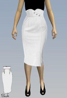 1950s Pencil Skirt Pattern - Amber Middaugh