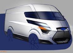 Design Development: Ford Transit Courier, Connect, Custom and Car Design Sketch, Truck Design, Car Sketch, Commercial Vehicle, Commercial Van, Ford Company, Transit Custom, Industrial Design Sketch, Ford Transit