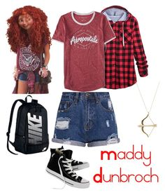 """""""Maddy Dunbroch"""" by musicadiction ❤ liked on Polyvore featuring Merida, Aéropostale, Converse, NIKE and Sydney Evan"""