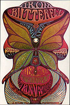 A late poster, psychedelic style, announcing Iron Butterfly appearance at the Santa Rosa, CA Fairgroun Rock Posters, Band Posters, Vintage Concert Posters, Vintage Posters, Retro Posters, Woodstock, Psychedelic Rock, Psychedelic Posters, Hippie Posters