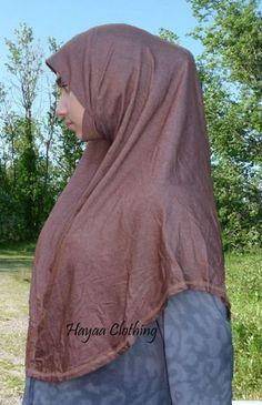 Hani Malaysian Cotton Hijab with Chin - Chestnut Sz L XL Hani, Cover Up, Cotton, Products, Fashion, Moda, Fashion Styles, Fasion, Gadget