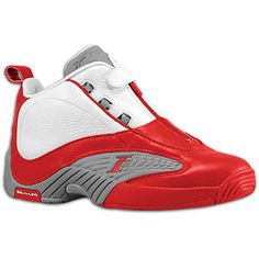 Reebok Answer IV - Men's - Iverson, Allen - White/Red/Flat Grey Size 13 Ai Shoes, Allen Iverson Shoes, Best Sneakers, Shoes Sneakers, Classic Sneakers, Basketball Sneakers, Prom Shoes, 30th, Reebok