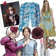 #HungerGames inspired fashion, starring Effie Trinket's florals