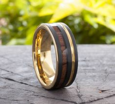 Gold Tungsten Ring