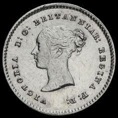 1838 Queen Victoria Young Head Silver Maundy Twopence, GVF+