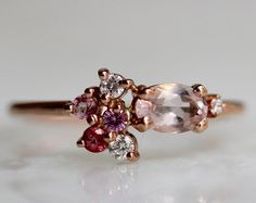 Image result for morganite and rubellite ring