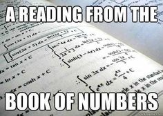 Book of numbers help!?