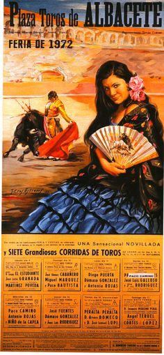 Cartel de Feria Taurina de 1972 en Albacete