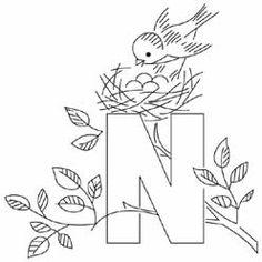 Pattern Detail   N for Nest   Needlecrafter