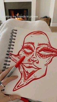 Cool Art Drawings, Art Drawings Sketches, Indie Drawings, Easy Drawings, Arte Grunge, Arte Indie, Hippie Painting, Funky Art, Hippie Art