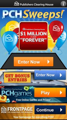 publishers clearing house online sweepstakes