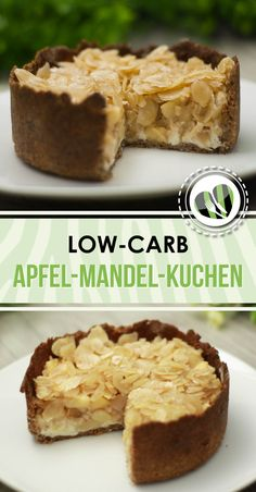 Low Carb Apfel-Mandel-Kuchen mit Mascarponecreme The apple-almond cake with mascarpone cream is a delicious low-carb snack. The cake is delicious and inspires everyone. It is also gluten free. Apple And Almond Cake, Almond Cakes, Low Carb Chicken Recipes, Healthy Low Carb Recipes, Low Carb Sweets, Low Carb Desserts, Paleo Dessert, Low Sugar Diet, Holiday Desserts