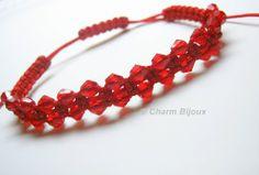 Bratara Craciunita, by charm.bijoux, 20 Lei http://cdbs.biz/product-details/?pid=201311221339098a0b9