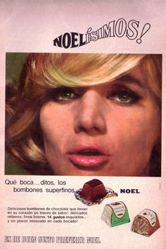 Bombones NOEL, 1966. Ella es Chunchuna Villafañe.