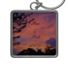 Summer Sunset Romantic Key Chain *personalize*