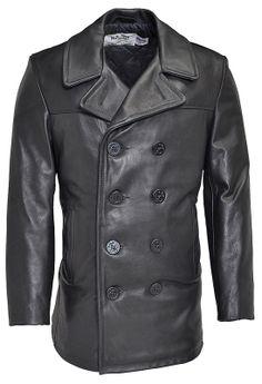 Schott Leather Naval Pea Coat 140 $636.00
