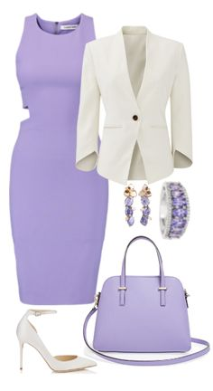 Fashion in purple and white colors