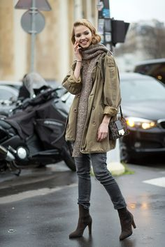Sasha Luss spotted at Couture Week. See all the best street style looks, here: