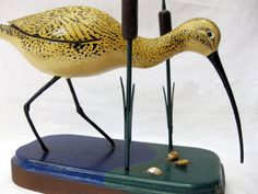 Curlew Handcarved Bird 1996 by OutofTrees on Etsy, $245.00
