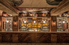 The Tippler, located beneath the Chelsea Market. Enter on 15th street and take the stairs down into this modern speakeasy.