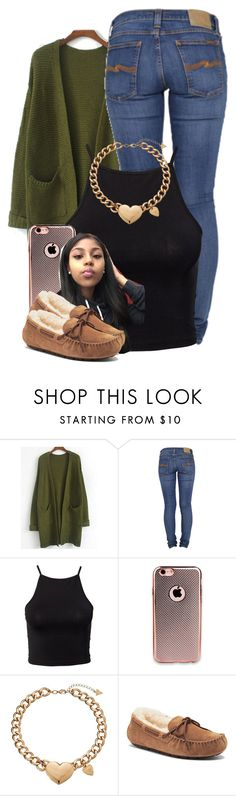 """""""Untitled #2799"""" by alisha-caprise ❤ liked on Polyvore featuring Nudie Jeans Co., Estradeur, GUESS and UGG Australia"""