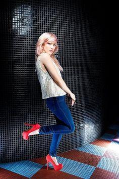 Ellie Goulding #ellie_goulding #pink_hair #musician by charmaine