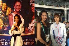 Miss Mundo Brazil 2015 Catharina Choi Nunes at the Rio Olympics
