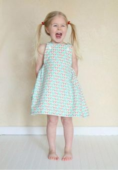 One-Yard Sydney Dress Pattern | This one-yard wonder is perfect for younger girls!