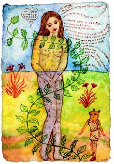 Irene Hardwicke Olivieri. Knowing what is needed. Watercolor.