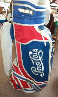 Belding Sports Red White and Blue Vintage Pepsi-Cola Golf Bag with  Accessories 4c89169f4ccd3