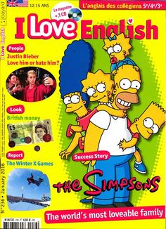 I Love English - N°236 - Success Story : Les Simpsons - British money - Justin Bieber