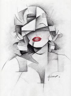 Cubist Portraits, Portrait Art, Cubist Art, Abstract Art, Futurism Art, Birthday Card Drawing, Pencil Art Drawings, Western Art, Artist Painting