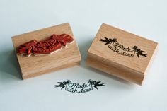 Rubber Stamp Hand Made by MissHoneyBird on Etsy, €11.95