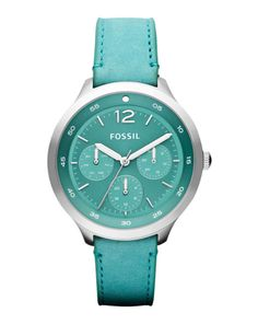 Color Azul Turquesa - Turquoise!!!  Fossil Editor Leather Watch