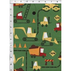 For the future construction supervisor. Help them imagine building a road to wherever life may lead! Quality Cotton Fabric. www.americasbestthreads.com