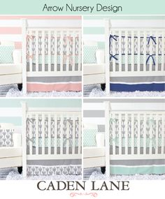 If you don't know where to begin in putting together your trendy tribal print nursery, look no further! A perfect blend of metallic accents and bold colors make Caden Lane's designer line of tribal baby bedding the perfect addition for ANY nursery!