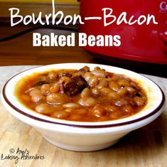 Amy's Cooking Adventures: Crockpot Bacon Bourbon Baked Beans