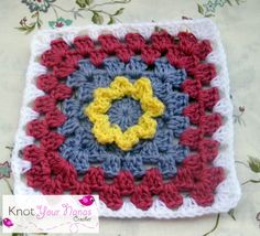 Knot Your Nanas Crochet: Granny Square CAL (week one)